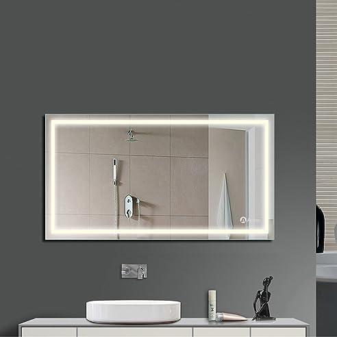 Perfect Anten Bad Spiegel Fr Und Badspiegel Mit Led Beleuchtung Wandspiegel  Gro With Spiegel Bad Led