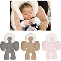Head and Body Support Pillow, LEEGOAL Infant To Toddler Head, Neck and Body Cushion Perfect For Car Seats and Strollers, Detachable Head for Versatility as the Baby Grows (Gray)