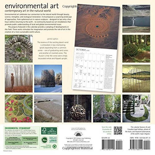 Art Calendar Book : Environmental art wall calendar contemporary in