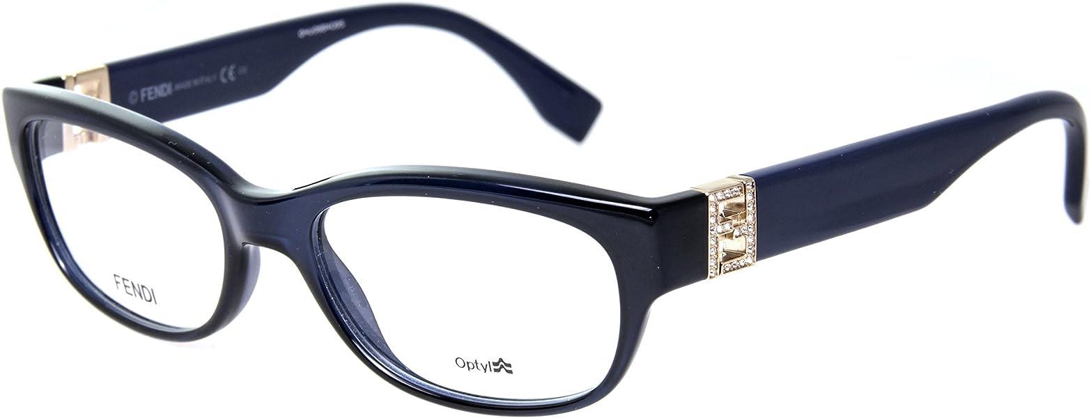 7db2a4c15ea New FENDI Prescription Eyeglasses With Case - FF 0048 0MJH - Blue  (52-17-130)