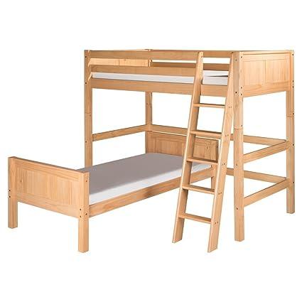 Camaflexi Panel Style Solid Wood L Shaped Loft