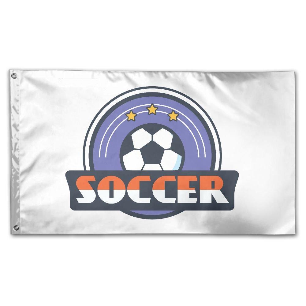 Balón de fútbol de bandera de Jardín 3 x 5ft casa patio bandera ...