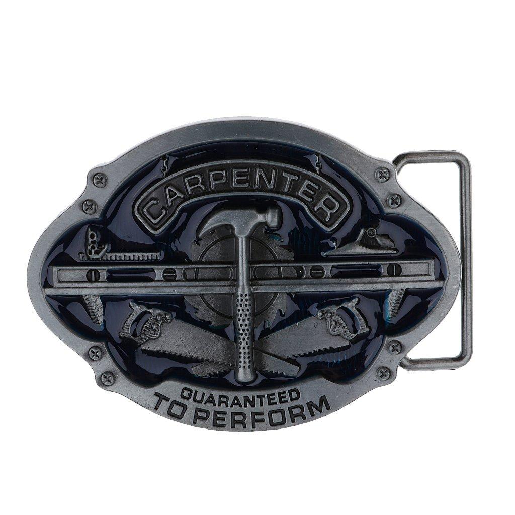 MagiDeal Fibbie Per Cinture Ovale Cinturino In Metallo Cowboy Americano Nativo