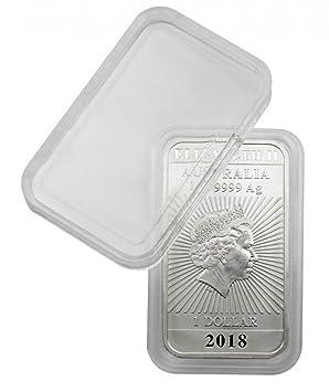 Cápsulas de monedas rectangulares 27 x 47 mm (10 piezas) [Lindner S22552747P] por ejemplo por 1 Oz Australia (Plata)