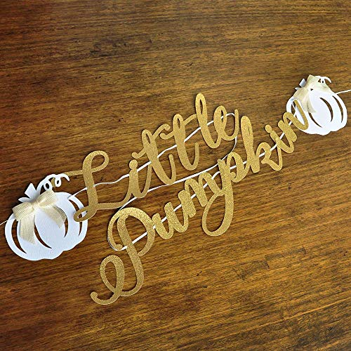 Little Pumpkin Banner. Little Pumpkin Baby Shower. Little Pumpkin Birthday Decorations.