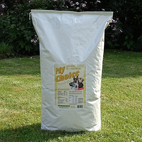 My Choice Geflügel-Ei-Kartoffel | 15 kg Sack | getreidefreies Hunde Trockenfutter - gut und günstig
