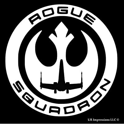 UR Impressions Rogue One Squadron Decal Vinyl Sticker Graphics for Cars Trucks SUV Vans Walls Windows Laptop|White|5.5 Inch|URI207: Automotive
