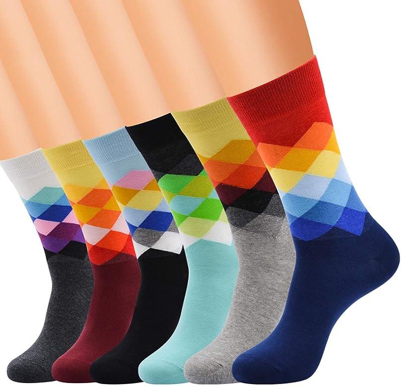 levliong Calcetines Para Hombre, Brillante Colorido Medias AlgodóN ...