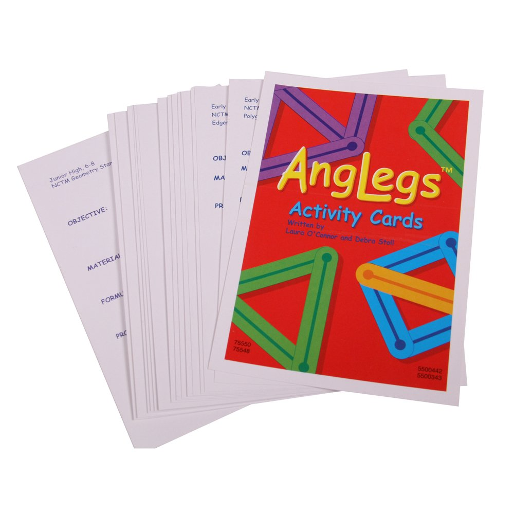 hand2mind AngLegs Geometry Shape Kit with Classroom Activity Cards and Protractors (Pack of 432) by hand2mind (Image #3)