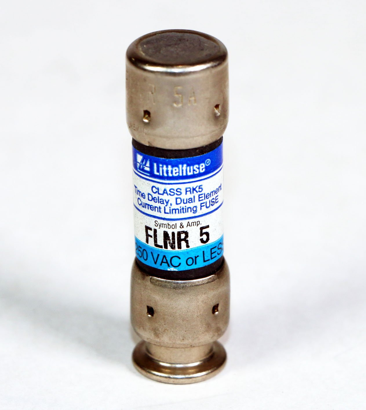 FLNR5 - LOT OF 3 - FUSES FLNR-5 LITTELFUSE 5 AMP, 250V RK5 Dual-Element Time-Delay Fuse 250VAC FLNR 5A