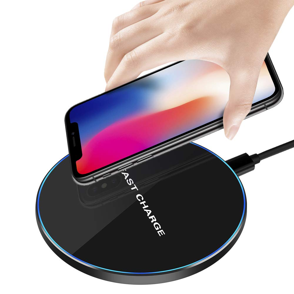 Amazon.com: 10W Fast Wireless Charger, Foluu Wireless Charging Pad Compatible with iPhone Xs MAX/XR/XS/X/8/8 Plus 10W Compatible with Galaxy Note 9/8/S9/S9 ...