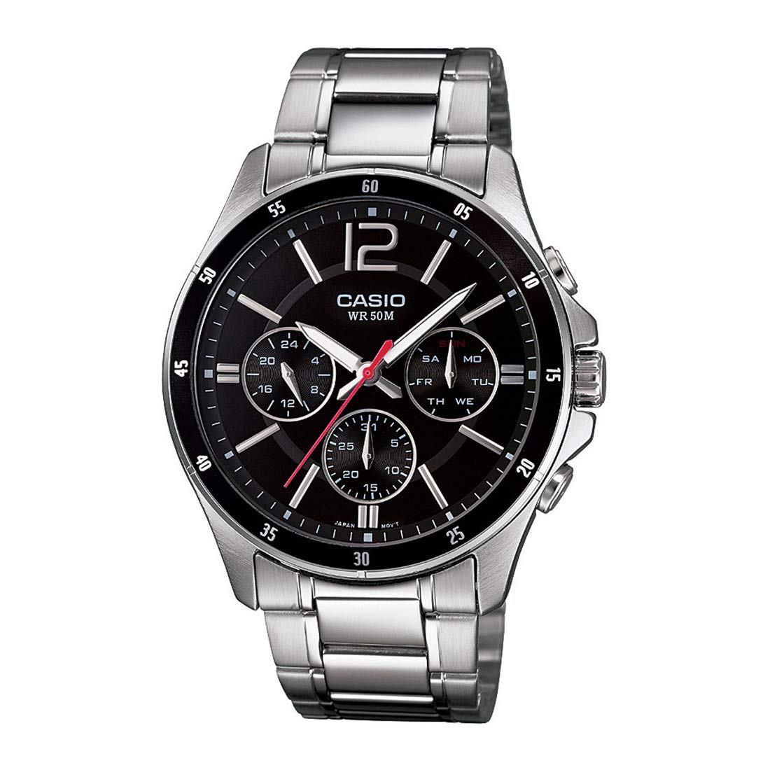 Casio Enticer Black Dial Best Mens Watches Under 5000 in India to buy in 2019 - Reviews & Buyers Guide