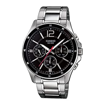 59a505d01 Buy Casio Enticer Black Dial Men s Watch - MTP-1374D-1AVDF (A832) Online at  Low Prices in India - Amazon.in