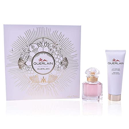Guerlain Mon Guerlain For Women 2 Piece Set With Eau De Parfum Spray Perfumed Body Lotion