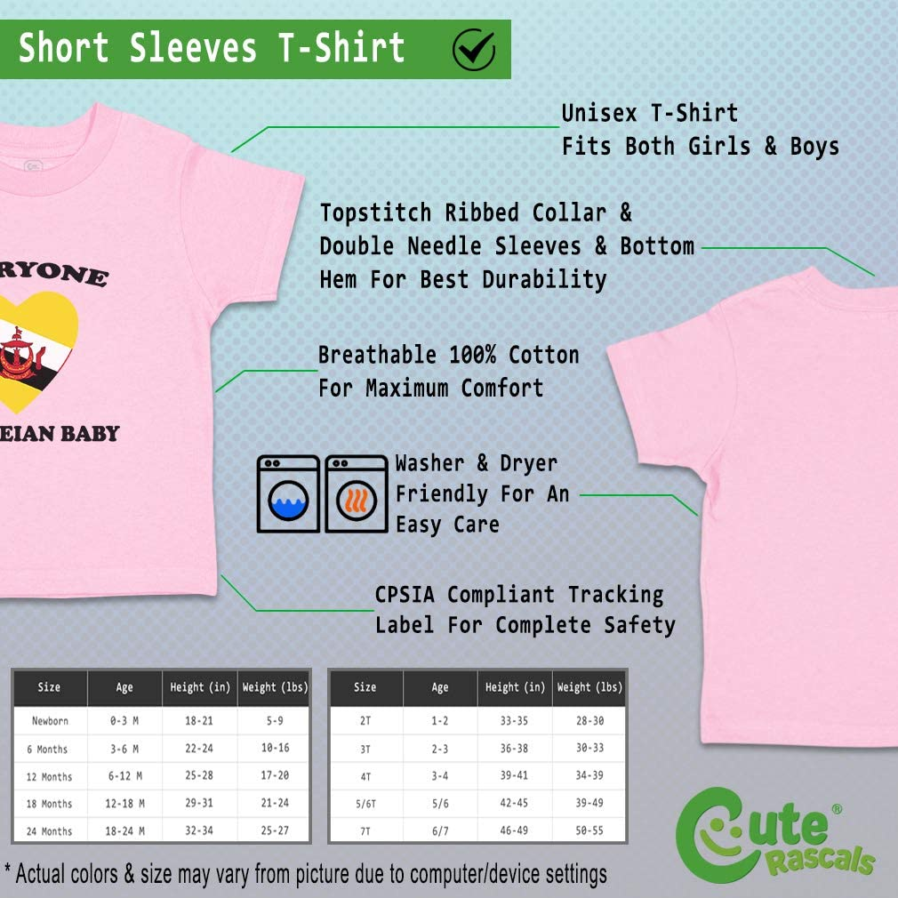Custom Baby /& Toddler T-Shirt Everyone Loves Bruneian Cotton Boy Girl Clothes
