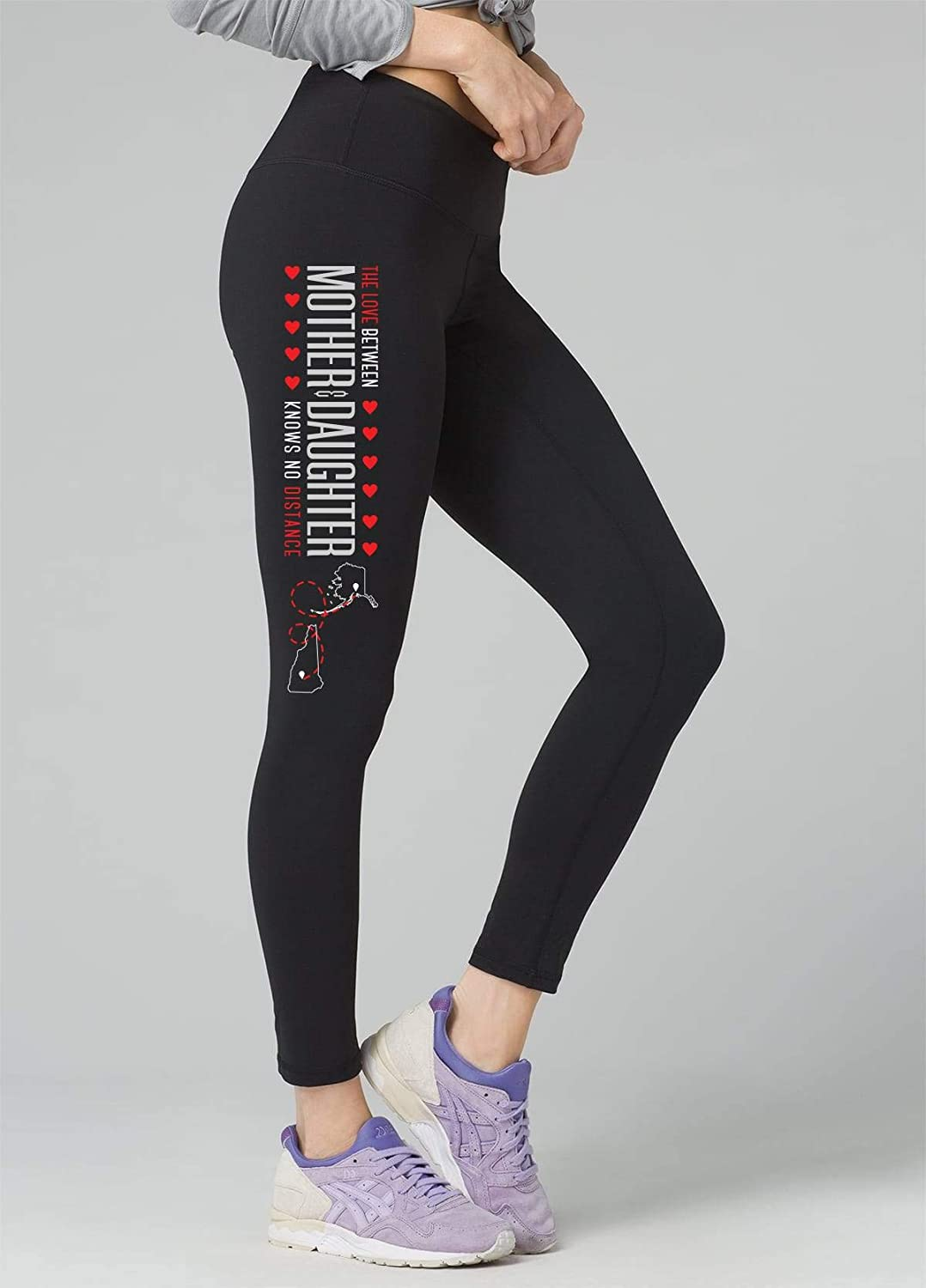 Idea Mother Day Leggings Alaska AK New Hampshire NH The Love Between Mother /& Daughter Knows no Distance