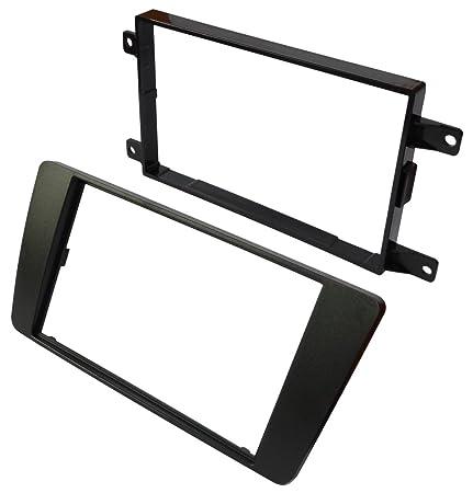 Black Plastic Fascia. Aerzetix 1DIN or 2DIN Car Radio Front Frame Adapter