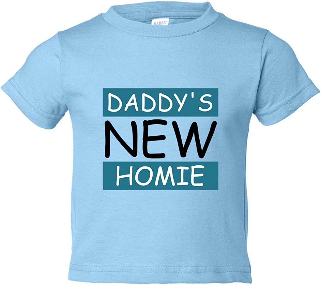 "Funny Threadz Funny Youth /""Daddys New Homie/"" Kids Toddler Shirt Kids"
