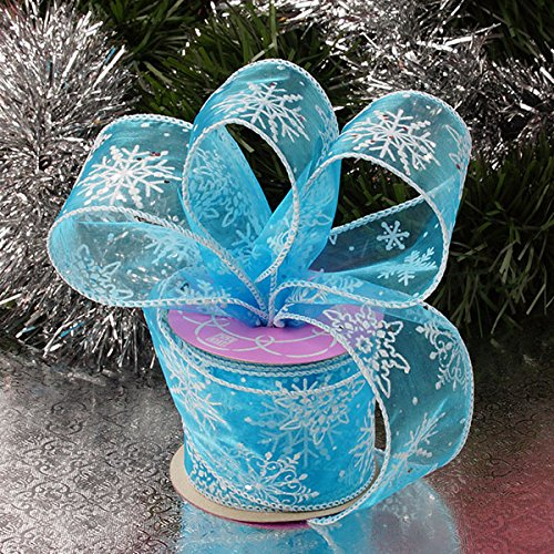 Krafty Klassics 1 Roll of Frozen Snowflake Sheer Ribbon (2 1/2