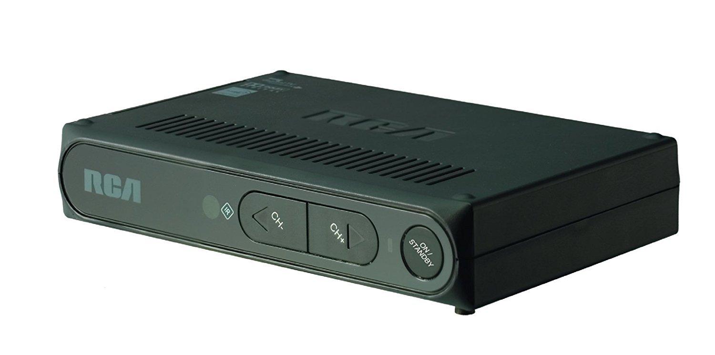 RCA Digital To Analog Pass-through TV Converter Box, Black (Certified Refurbished)
