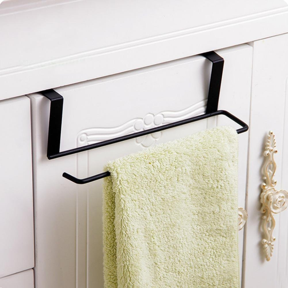 Agordo Towel Cupboard Holder Rack Metal Kitchen Under Cabinet Door Drawer Roll Pa new