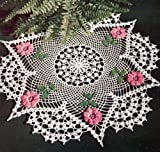 Vintage Crochet PATTERN to make - Irish Rose Flower Doily Motif. NOT a finished item. This is a pattern and/or instructions to make the item only.