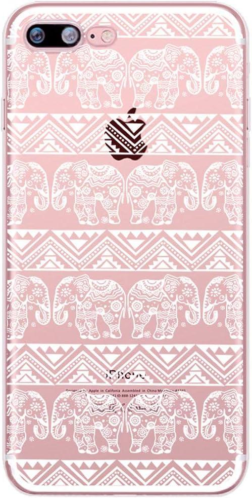 Homikon Silikon H/ülle Karikatur Mandala Blume TPU Silikon Tasche Handyh/ülle Transparente Durchsichtig Weiche Flexible Schutzh/ülle Sto/ßd/ämpfend Motiv Tasche Kompatibel mit iPhone 6//6S Mandala#1