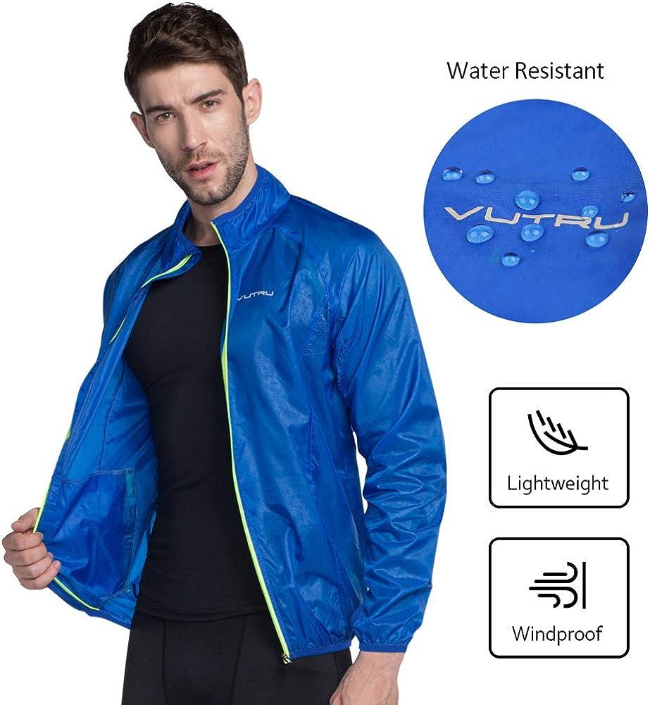 VUTRU Mens Running Jacket Lightweight Wind Jacket Breathable Skin Coat Windbreaker