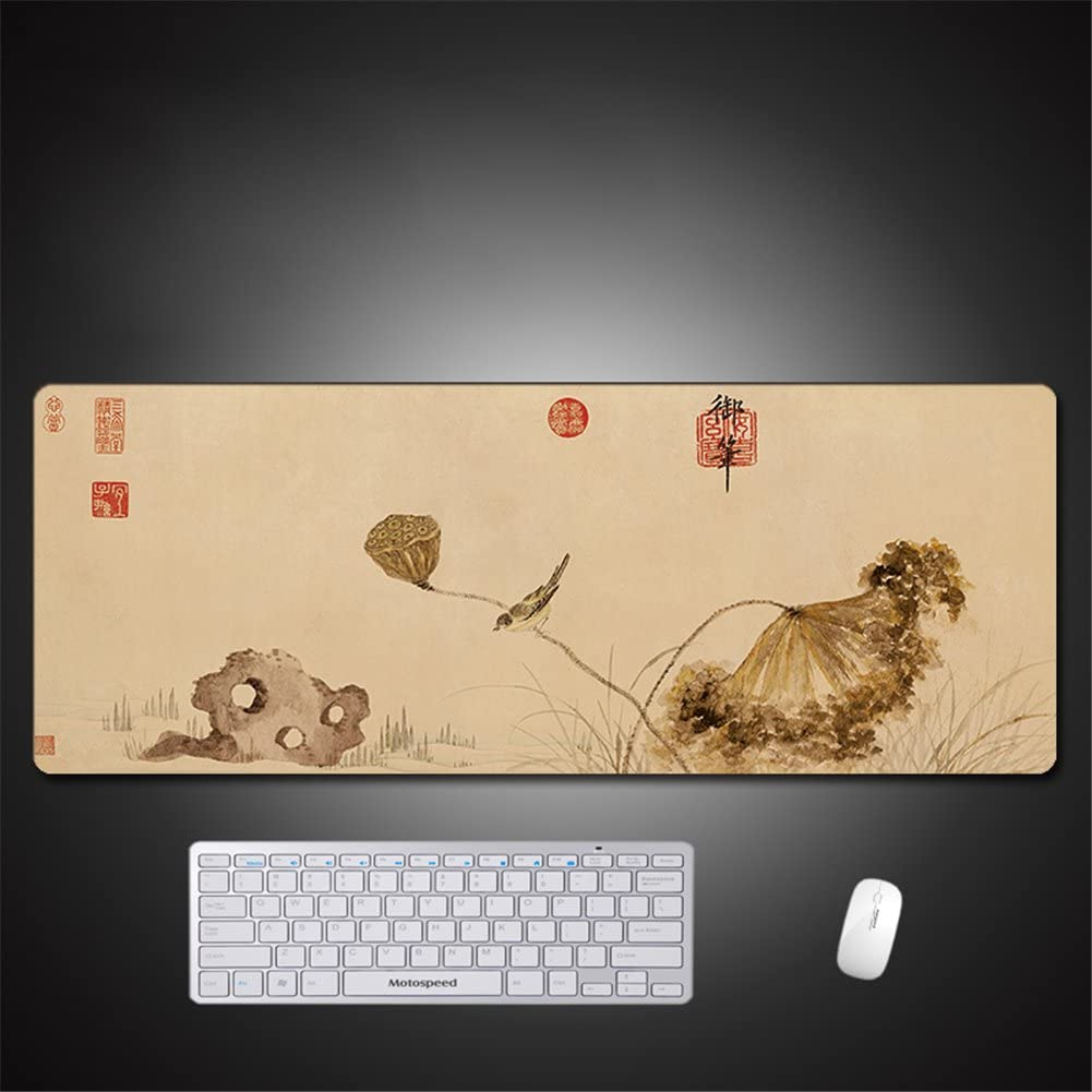 Flower LL-COEUR Large Size Mouse Pad Gaming Play Mat Non-slip Office Laptop Table Mat 800x300x3mm