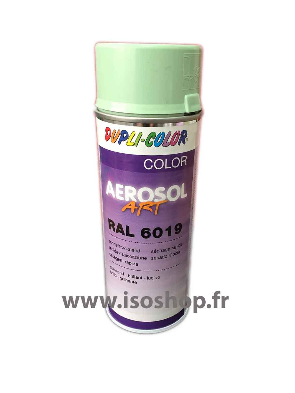 Vernice in bomboletta, colore: verde muschio (RAL 6019, 400 ml, colore: bianco Isoterm France