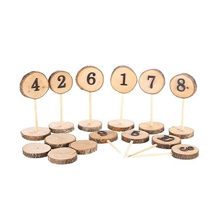 ultnice mesa de madera números con base para Boda Fiesta de ...