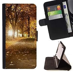 For Sony Xperia Z3 Compact / Z3 Mini (Not Z3) Case , Naturaleza Hermosa Forrest Verde 45- la tarjeta de Crédito Slots PU Funda de cuero Monedero caso cubierta de piel