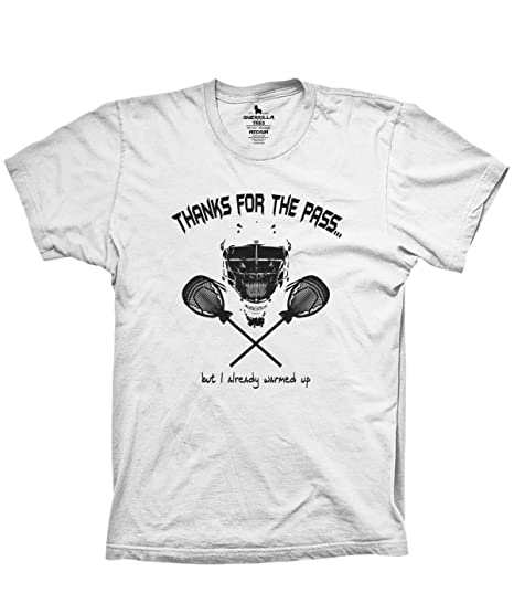 36a971e50e950 Guerrilla Lax Lacrosse Shirts Thanks The Pass Lacrosse Goalie Shirts lax  bro Gifts Lacrosse Players Grey