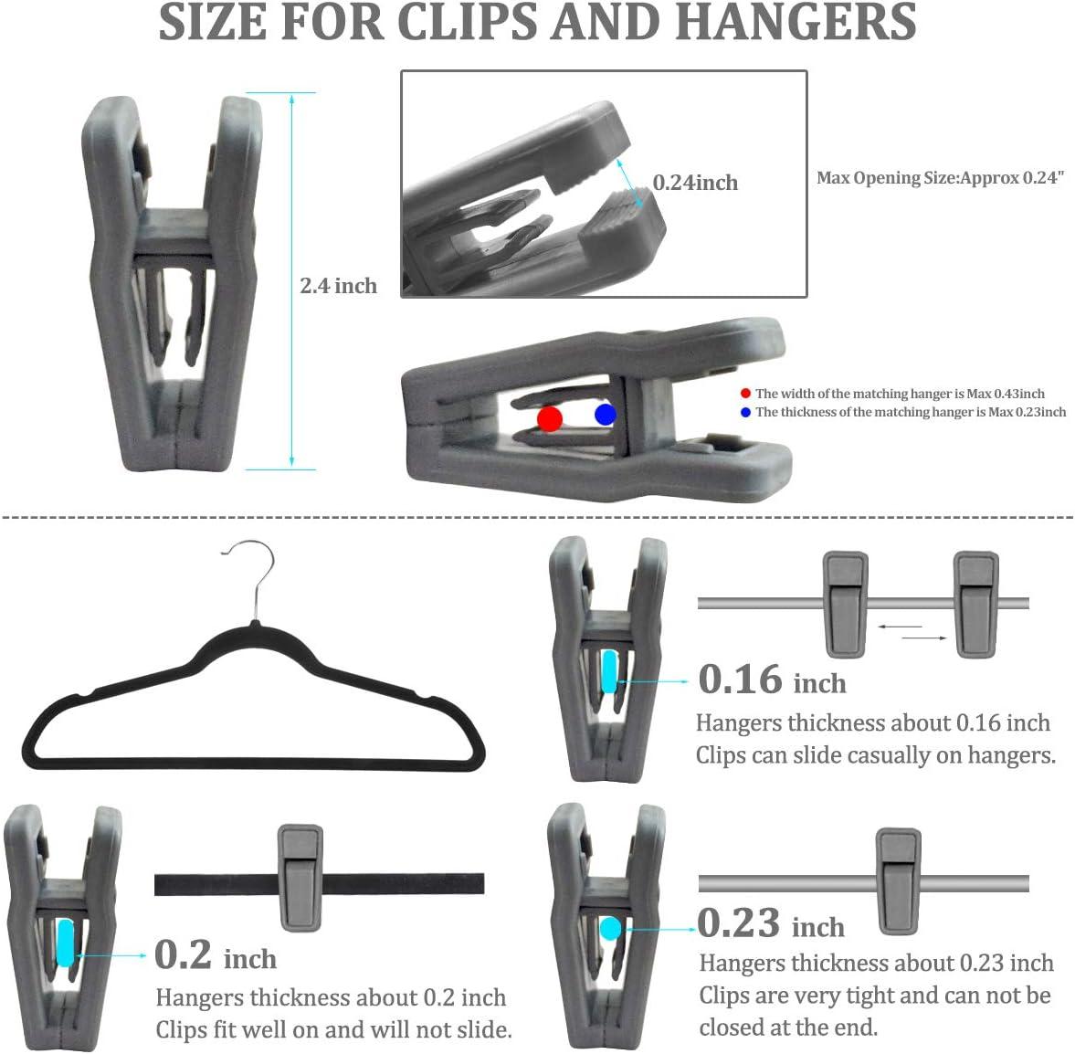 grau Homeerr 20Pieces Finger Clips f/ür den Einsatz mit Slim-Line Kleidung Abnehmbare
