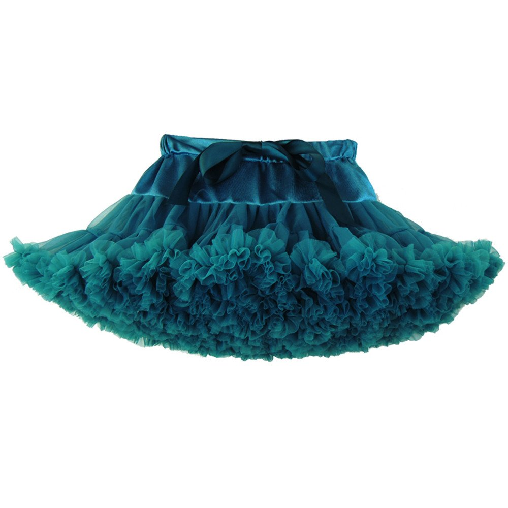 iFANS Girls Baby Party Dance Skirt Candy Color Princess Tulle Bubble Skirt