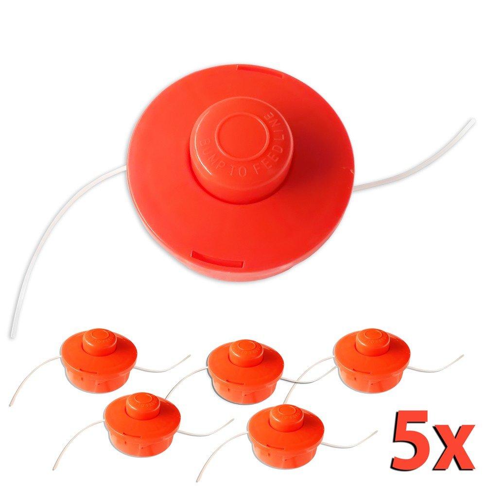 5X Nemaxx FS1 Nemaxx FS1 Carrete de Hilo Doble con arrancador automático Accesorios de Corte Hilo de Nylon línea de Nylon Carrete para desbrozadora ...
