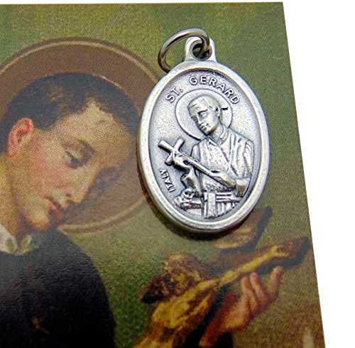 St Gerard Medal Patron Saint of Mothers Includes Holy Prayer Card