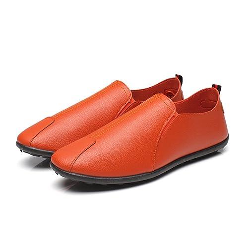 DANMEI - Mocasines para Hombre, Color Naranja, Talla 39 EU