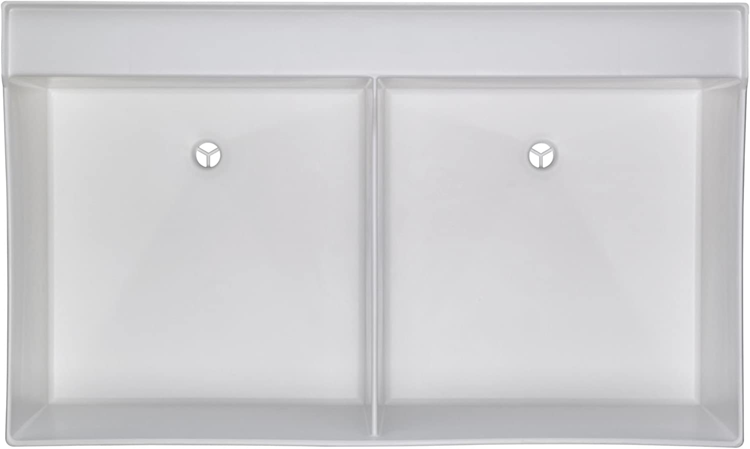 Mustee 27W Utilatwin Wall Mount Laundry/Utility Tub, White