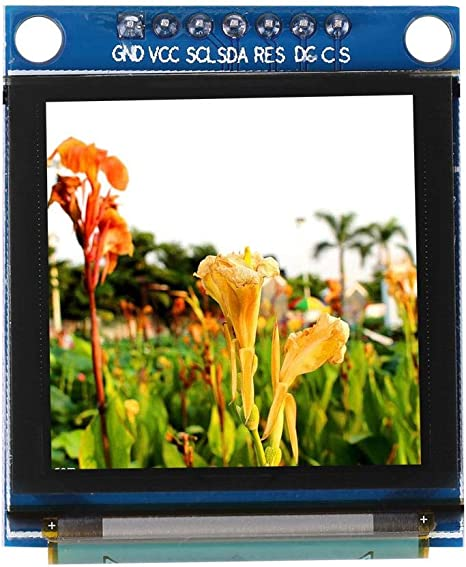 Suchinm Módulo de Pantalla de Bricolaje, Módulo de Pantalla a Color O-LED de 1.5 Pulgadas 128x128 SSD135 Interfaz periférica en Serie para componentes electrónicos: Amazon.es: Electrónica