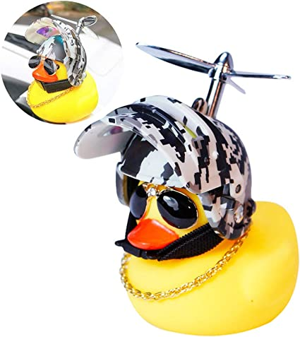 Lovely Yellow Duck Bike Bell for Kids Toddler Children Adults Sport Outdoor Rubber Yellow Duck Bicycle Accessories with LED Light Kids Bike Horn Omeet 1 Pair
