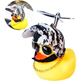 wonuu Rubber Duck Toy Car Ornaments Yellow Duck Car Dashboard Decorations with Propeller Helmet for Adults, Kids, Women…