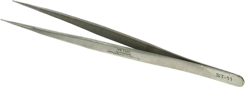 silberfarben sourcingmap/® Pinzette 13,7/cm lang Edelstahl spitz extra feine Spitze