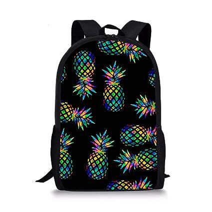 c3e571231204 Allcute Kids School Backpack Large Durable Elementary Preschool Book Bags  for Boys Girls Pineapple Print