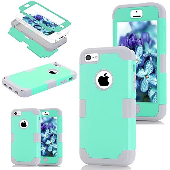 wholesale dealer 80531 64cb0 For iPhone 5c case,Kecko Camouflage Heavy Duty Shockproof Dirt proof  Military Grade Drop Scratch Resistant Hybrid Bumper Full Body Protective  Camo ...