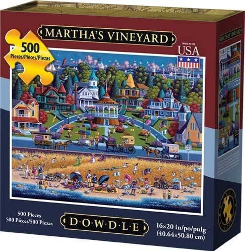 Dowdle Folk Art Martha's Vineyard Jigsaw Puzzle