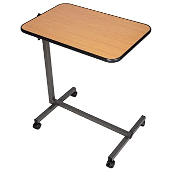 Amazon Com Giantex Overbed Laptop Food Tray Table Rolling Desk