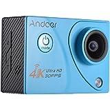 Andoer【Wifi機能 30m防水 4K 30FPS 1080P 60FPS フルHD 2.0インチLTPS LCDスクリーン】防水スポーツカメラ アクションカメラ DV 多機能防水ビデオカメラ 170度広角レンズ Sony IMX179センサー H.264ビデオ圧縮 ライディング、スキー、サーフ、ダイビングといったアウトドアスポーツや空撮に最適 ドライブレコーダーとしてもいい