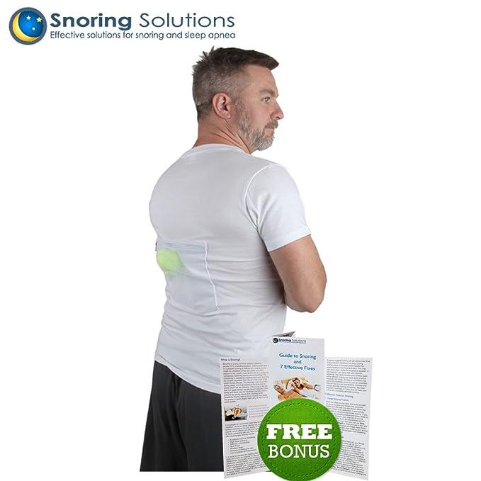 Camiseta Antirronquidos de Snoring Solutions - ¡La ayuda para dejar de roncar más cómoda para la gente que ronca boca arriba!