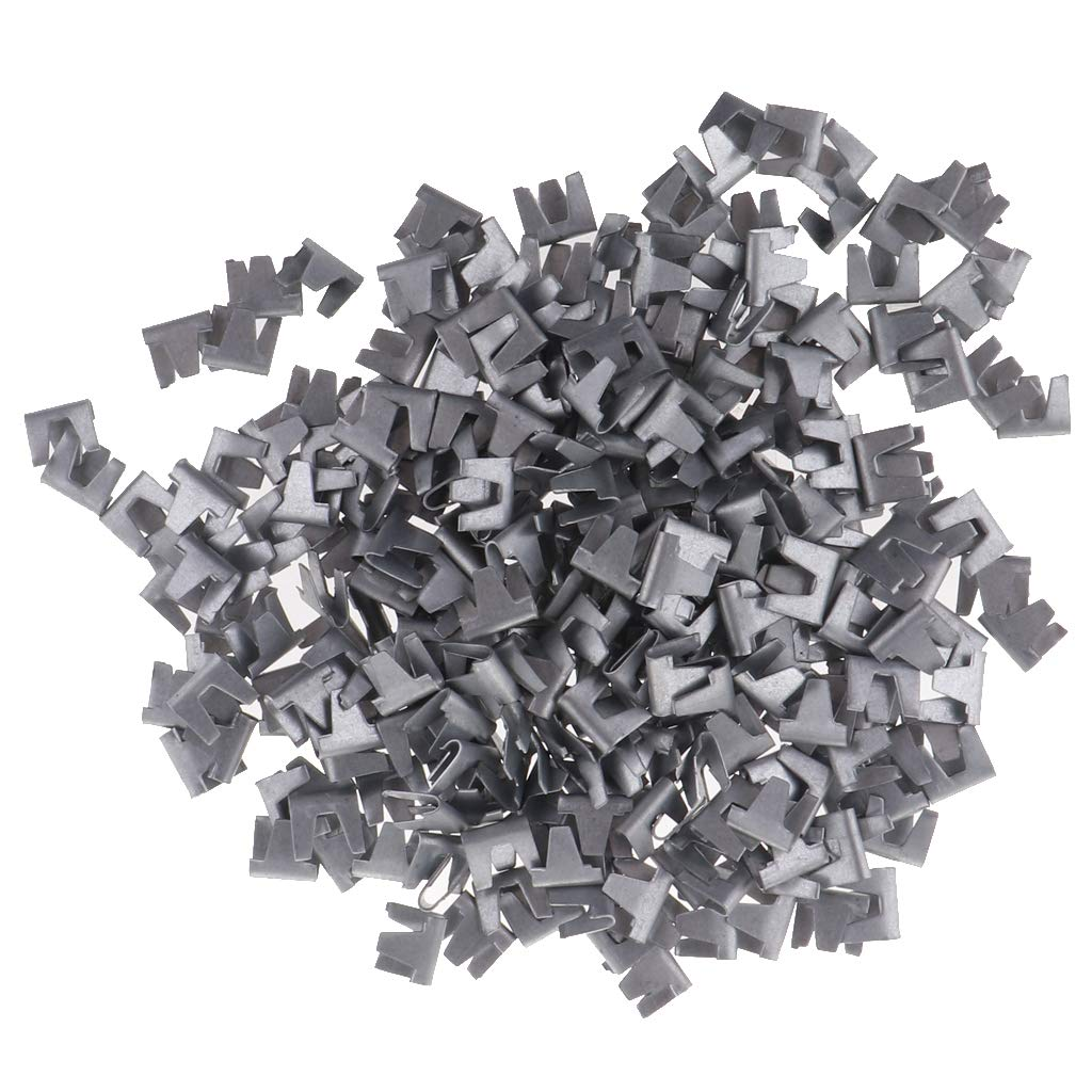 B Blesiya 300Pcs Wire Cage Buckle Clips Poultry Chicken Quail Pigeon Rabbit Pet Dog Cat Cage Building Assembly Kit Cage Snap Clip Clamp